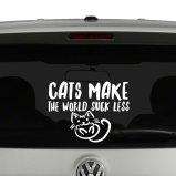 Cats Make The World Suck Less Cat Lovers Vinyl Decal Sticker