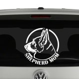 Shepheard Mom Dad Dog Headshot Vinyl Decal Sticker