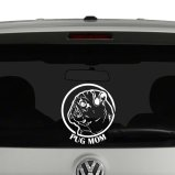 Pug Mom Pug Lover Dog Vinyl Decal Sticker