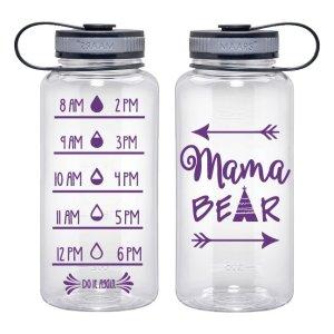 Water Tracker – Mama Bear Arrows Sports Water Bottle 34 Oz