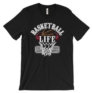 Basketball Is Life Eat Sleep Shoot Repeat T-Shirt