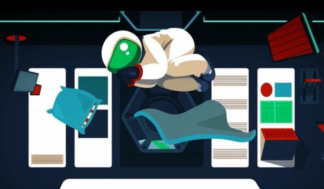 Image: Sleeping astronaut