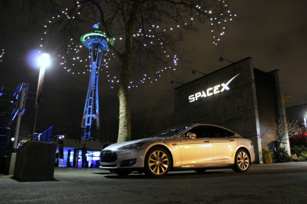 Image: SpaceX, Tesla and Space Needle