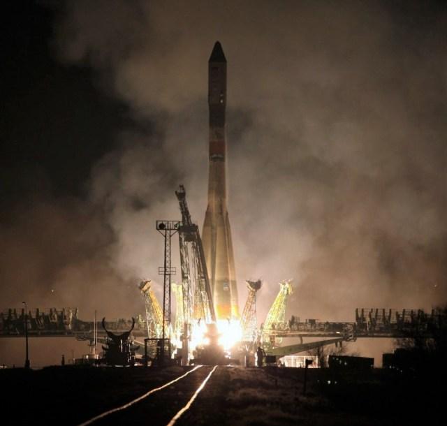 Soyuz launch with Progress