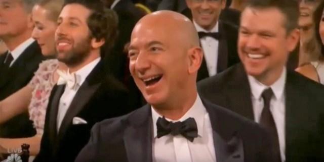Jeff Bezos at Golden Globes