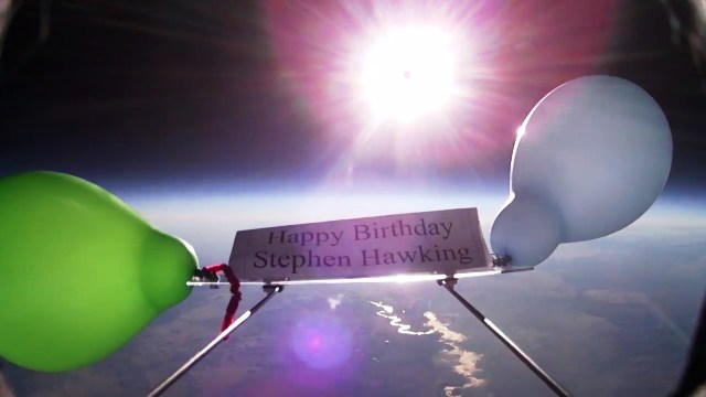 Near-space balloon for Stephen Hawking