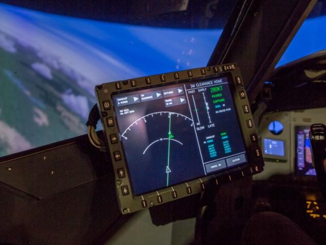 Tablet in cockpit