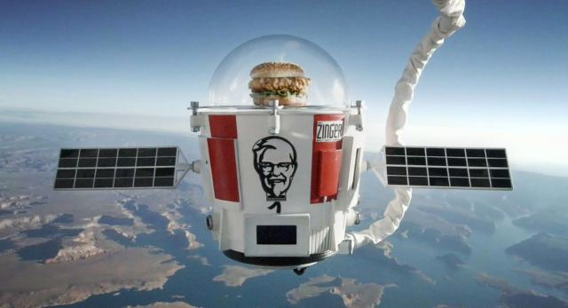 Chicken sandwich in stratosphere