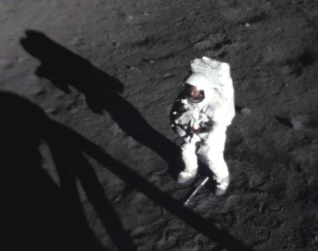 Neil Armstrong on lunar surface