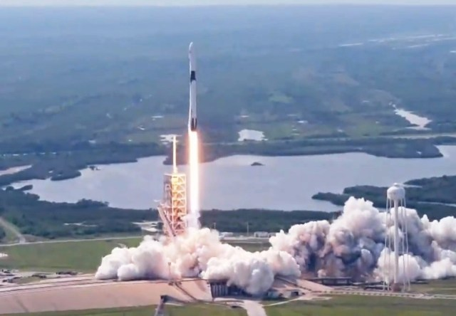 SpaceX Falcon 90 launch