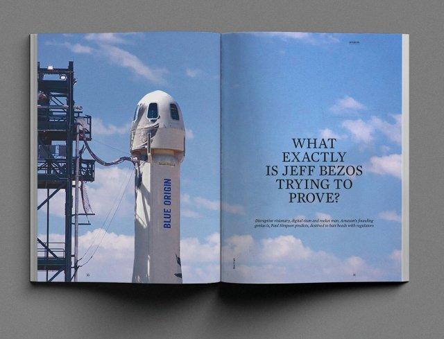 Work magazine spread