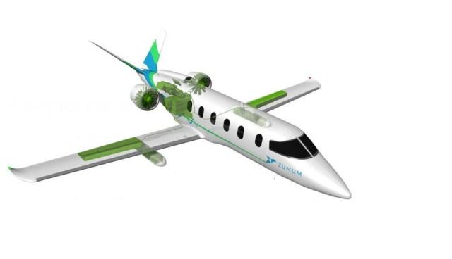 Zunum hybrid-electric design