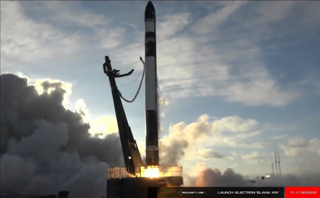 Rocket Lab liftoff