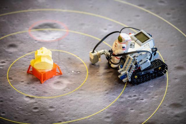 Moon landing re-enactment