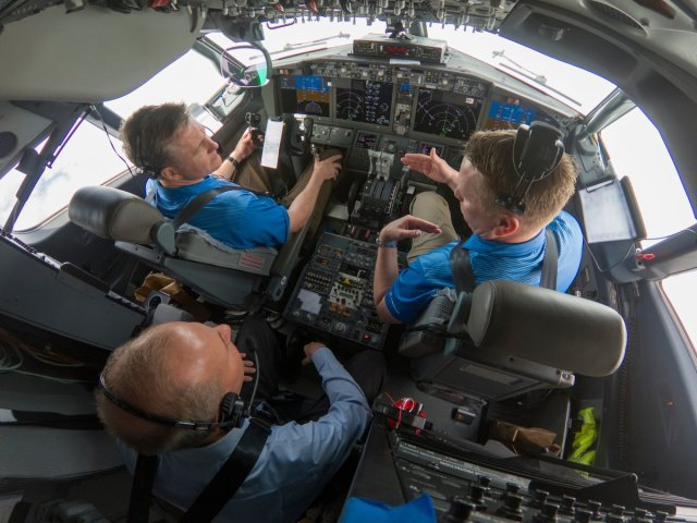 Boeing CEO in 737 MAX cockpit