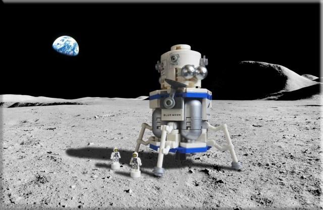 Blue Moon Lego lander