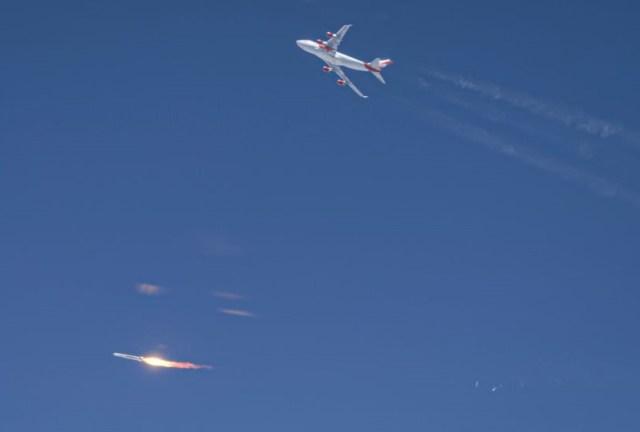 Virgin Orbit launch of LauncherOne