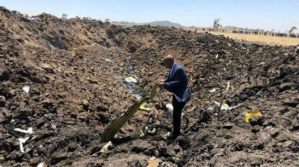 Ethiopian crash site