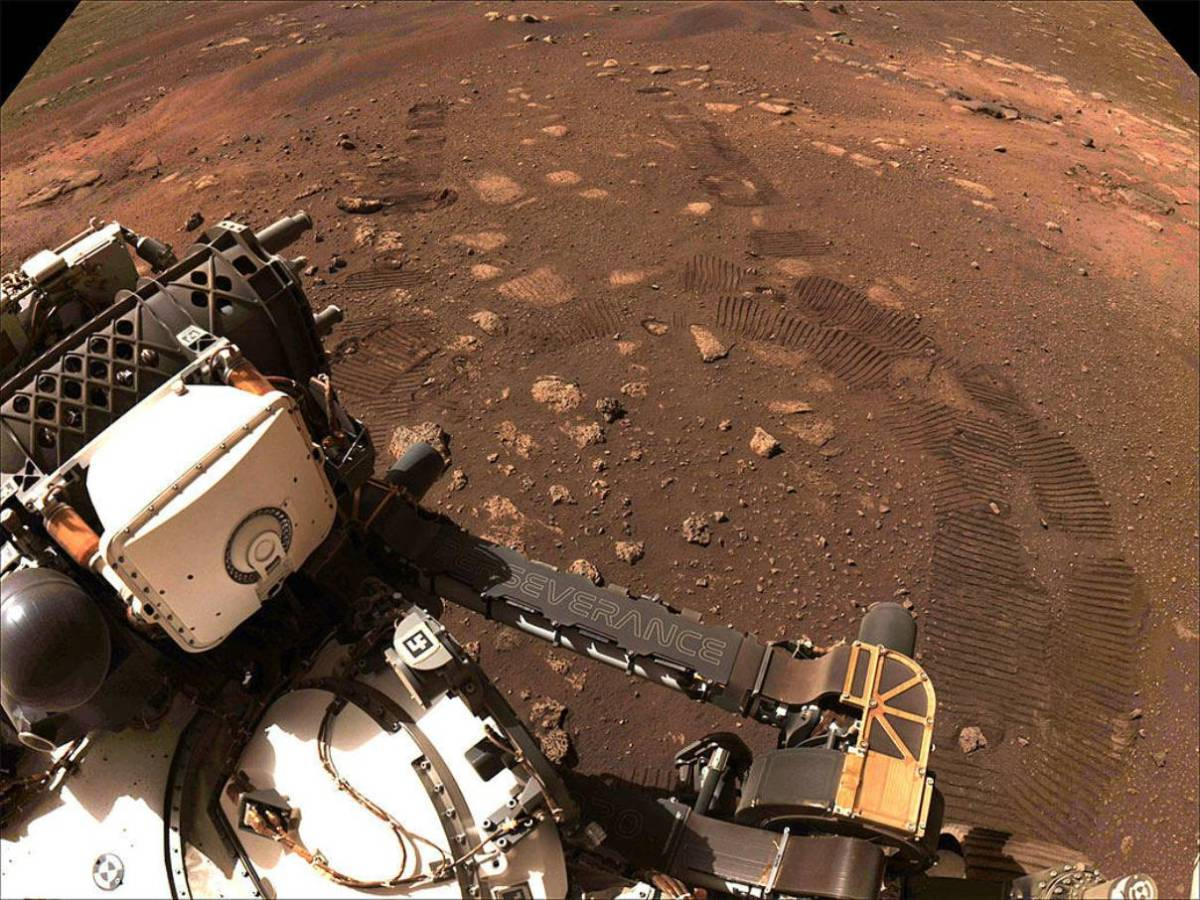 Perseverance rover on Mars