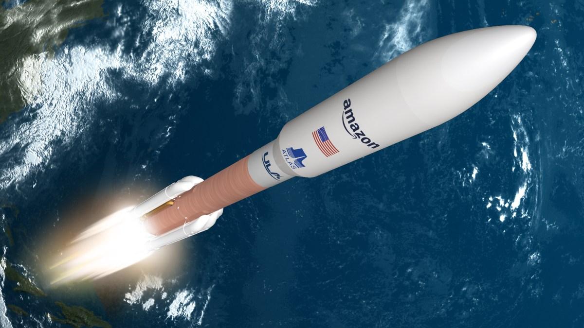 Atlas V with Amazon satellites