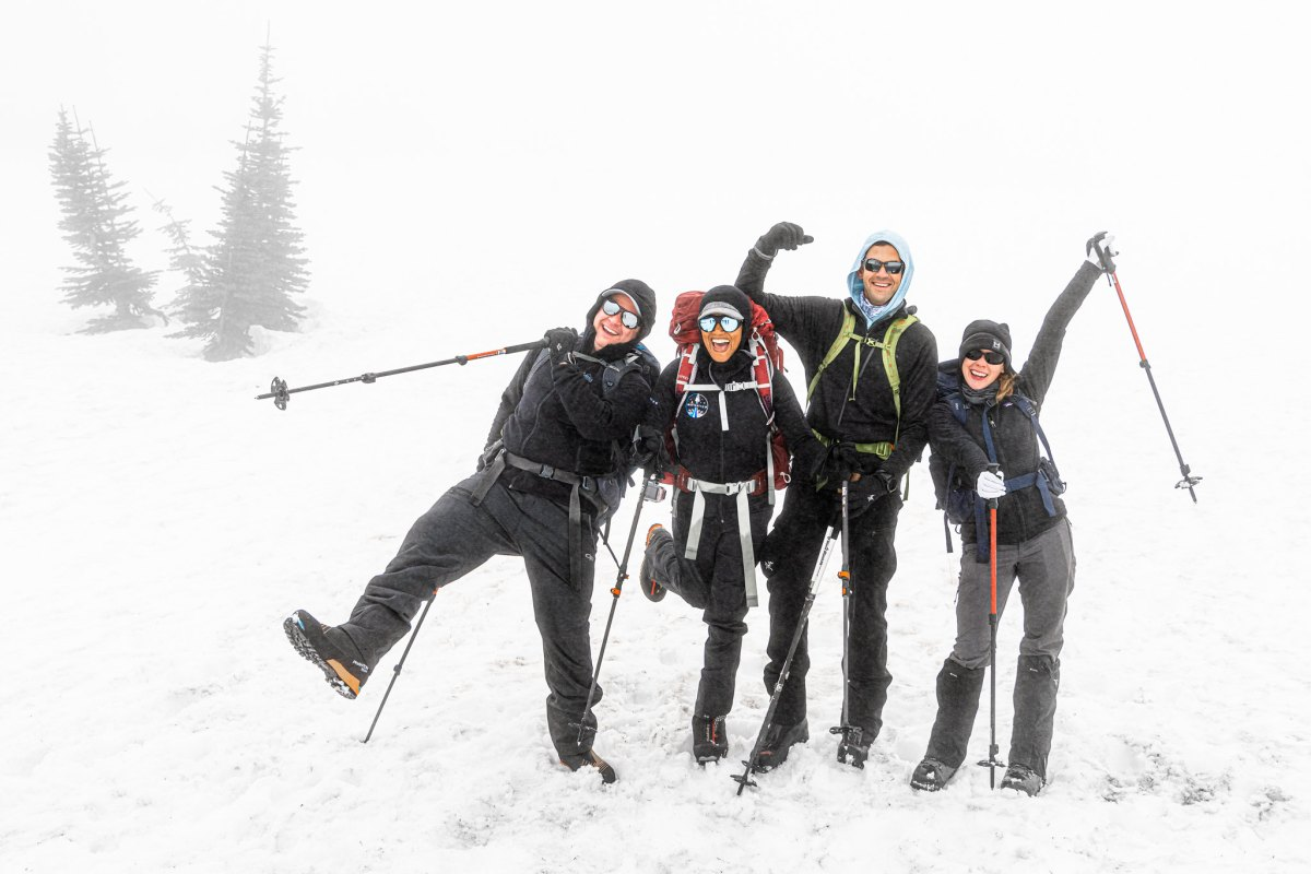 Inspiration4 crewmates on Mount Rainier