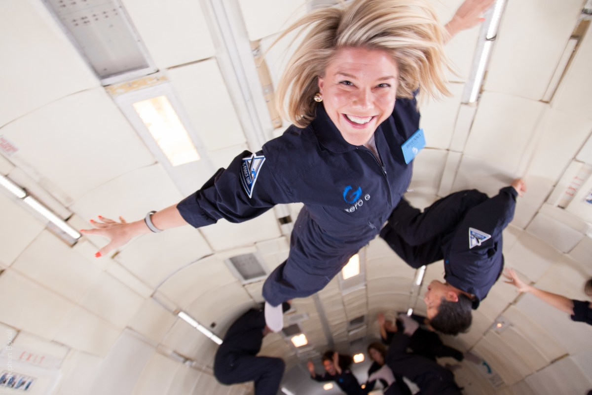 Brienna Rommes in zero-G