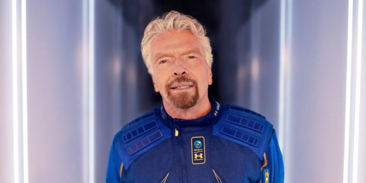Richard Branson in flight suit