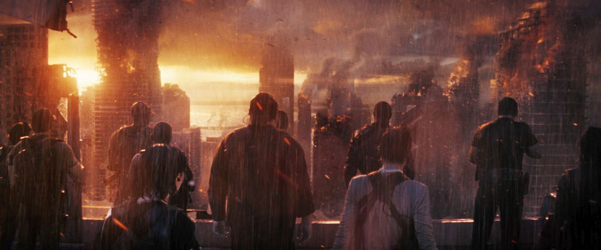 """Blasted cityscape in """"The Tomorrow War"""""""