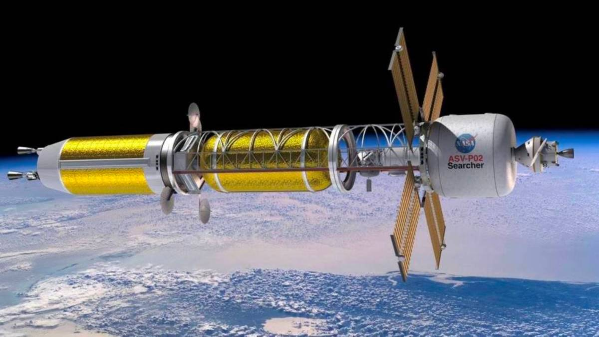 Spacecraft with nuclear thermal propulsion system