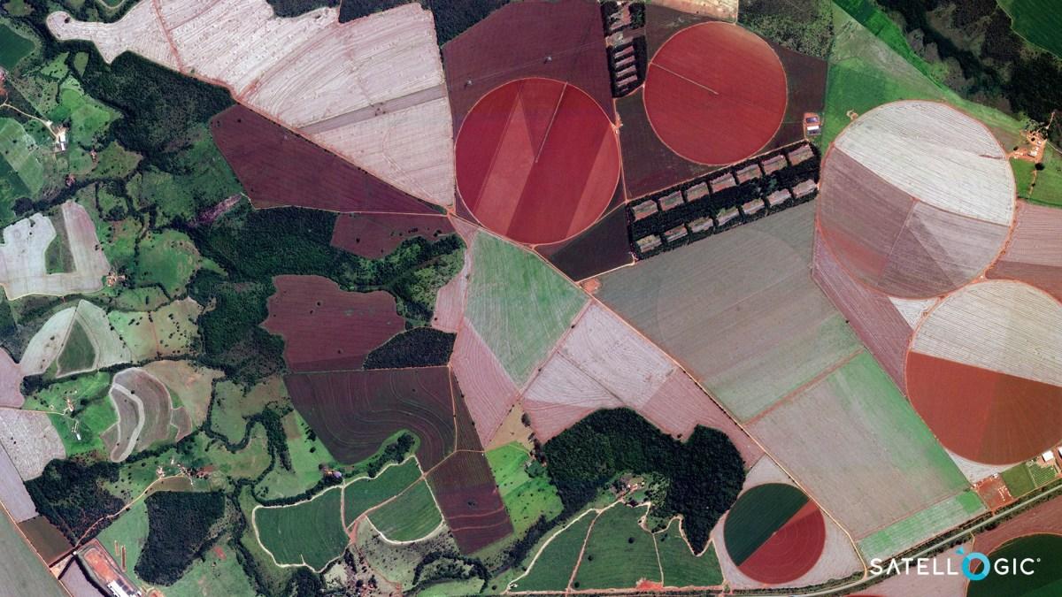 Satellogic view of Brazilian farmland