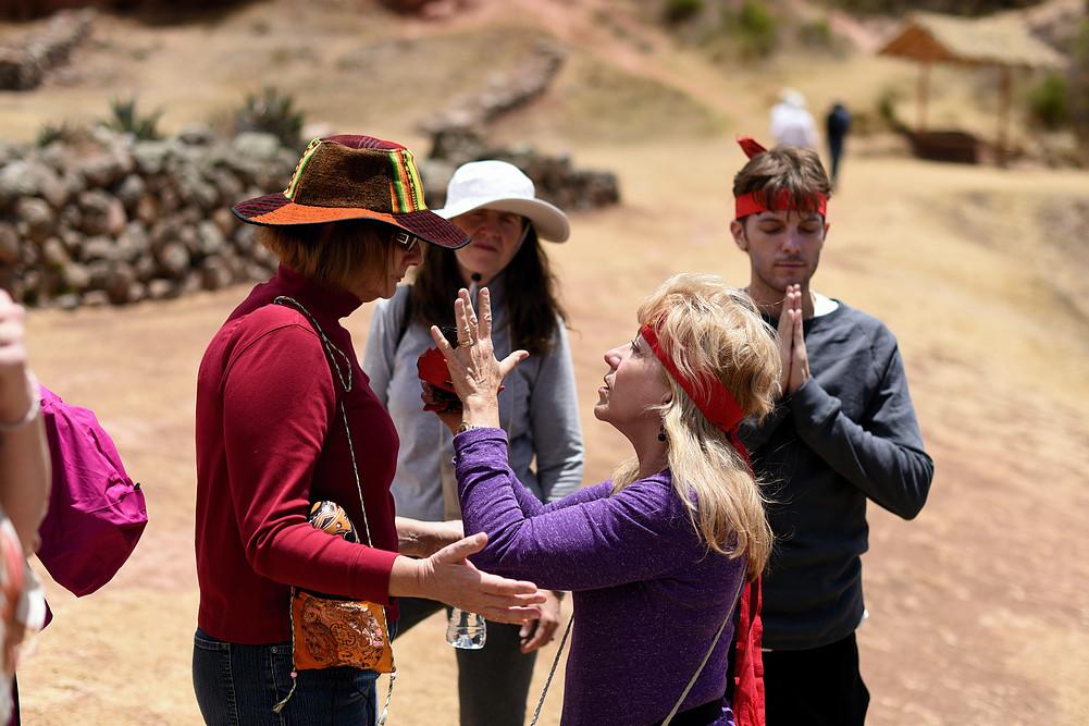 Patricia healing at sacred site