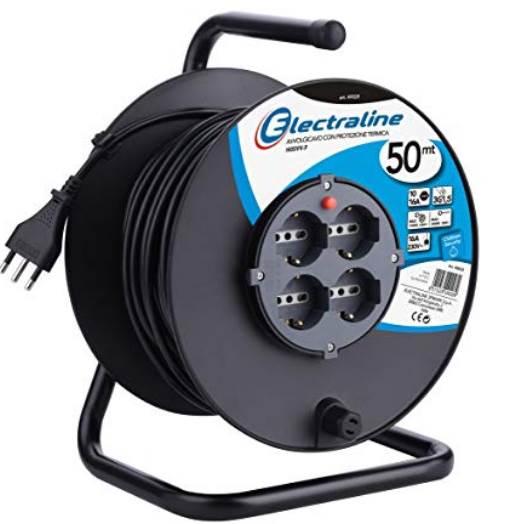 471cfcc9ae Caratteristiche. La Electraline 49028 è una delle prolunghe elettriche con  avvolgicavo ...