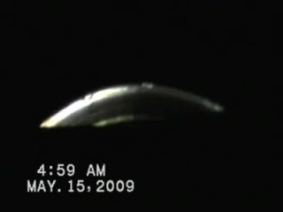 One of the unknown aerial objects seen in the 2009 video(b)