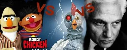 Sesame Street vs. Robot Chicken vs. Jacques Derrida