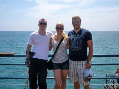 Lillebror, jag och L i USA