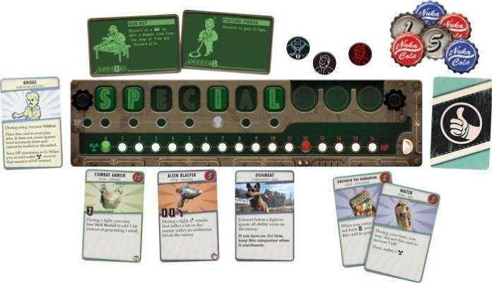 Fallout jeu de plateau - Les cartes