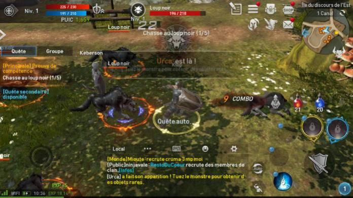 Lineage 2 Revolution capture combat