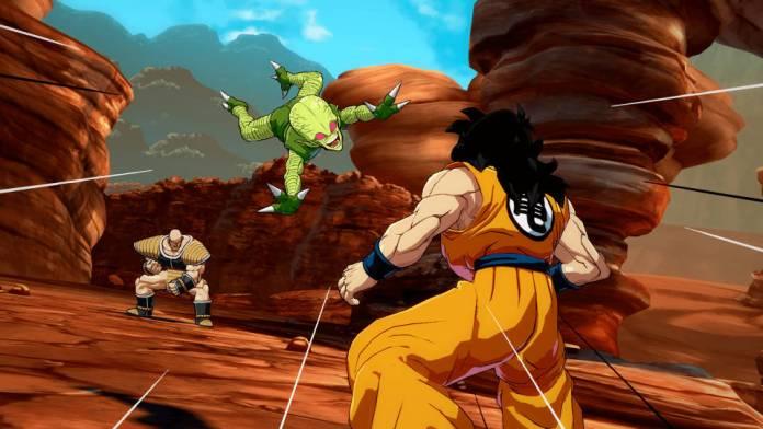 Dragon Ball FighterZ - Saibamen destruction