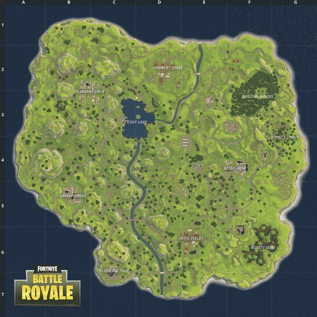Fortnite - Ancienne carte