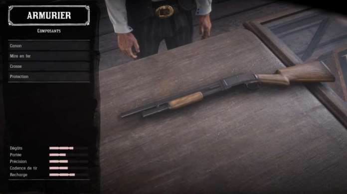 Red Dead Redemption 2 - Customiser les armes - Composants