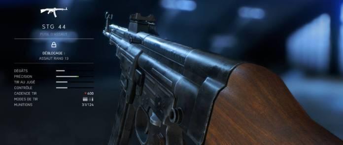 BF5 Meilleures Armes - fusil d'assaut - STG44
