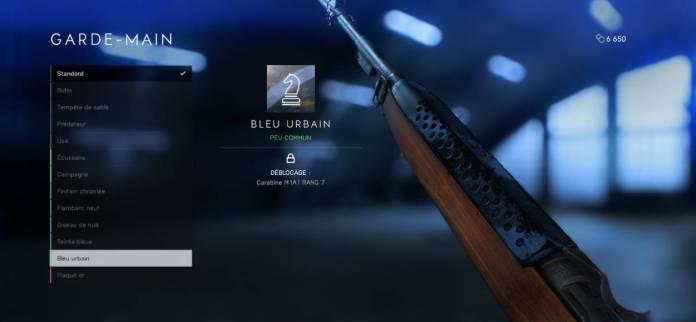 Battlefield 5 Personnalisation Armes - Customiser le garde-main
