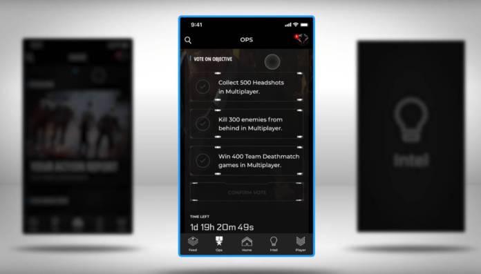 Black Ops 4 Companion App - récompenses de groupe