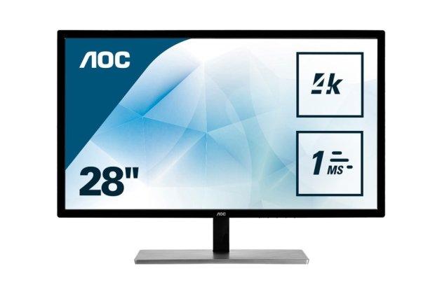 Meilleurs écrans PC 4K Gamer - AOC U2879VF - face
