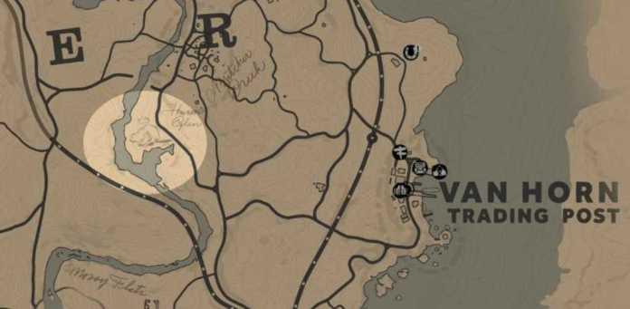 RDR2 Emplacement castor légendaire