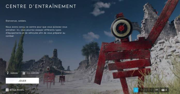 Battlefield 5 - Centre d'entrainement