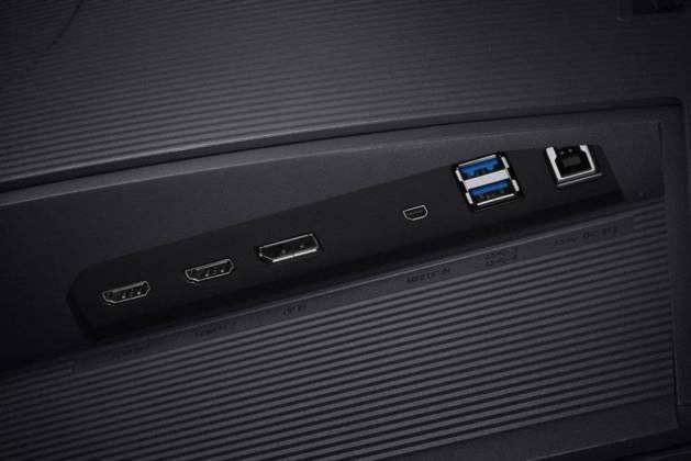 Connectique Samsung U32H850 - meilleurs écrans PC 4K