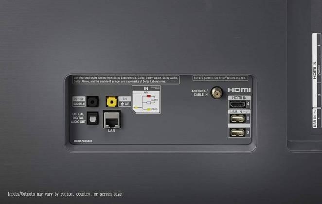 dos LG -OLED55B8 - Meilleures TV Gamer 4K