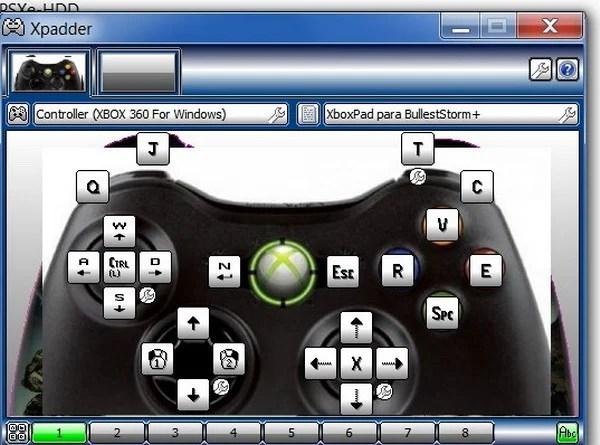 configurer Xpadder Windows 10 avec une manette Xbox One