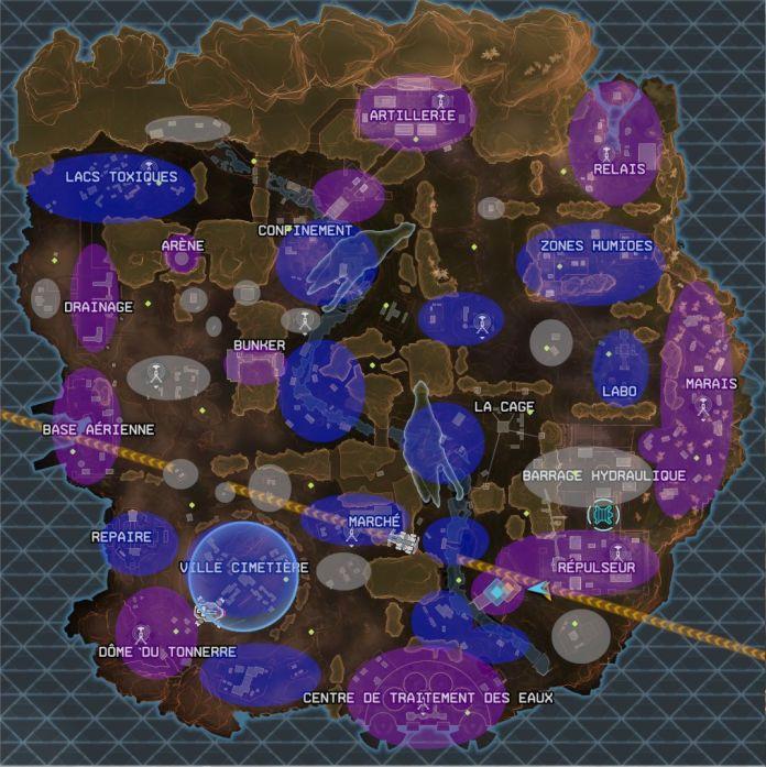 Apex Legends Carte et Niveau de Butin - Les zones a choisir -labo de Wraith du 3 septembre 2019